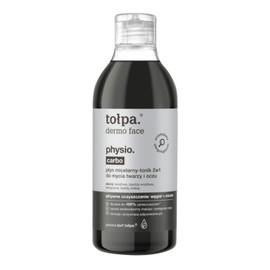 Physio Carbo Płyn micelarny - tonik 2w1 do mycia twarzy i oczu